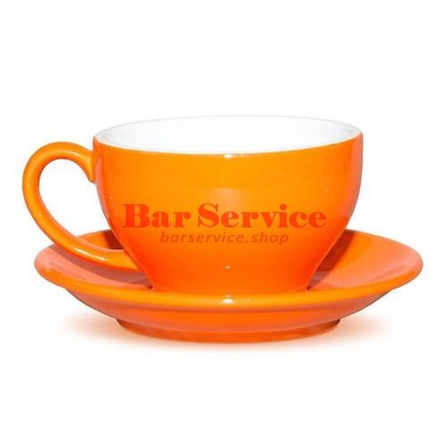 Чашка с блюдцем Barista 300мл оранж Proff Cuisine в Ижевске