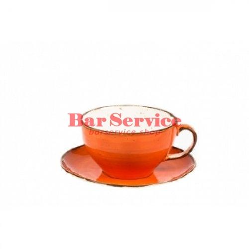 Чашка с блюдцем 375 мл Orange Sky Fusion в Ижевске